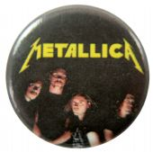 Metallica - 'Group Black' Button Badge